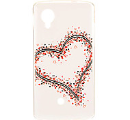 Kinston Big and Small Hearts Pattern TPU Soft Back Cover Case for Google LG Nexus 5