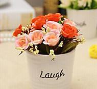 """4.8 """"H Graciosa Rose Bud em Laugh Escrito Vaso de cerâmica"""