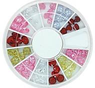 60pcs 12designs rhinestone zircone ruota di cristallo del chiodo decorazione di arte