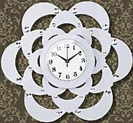 "22 ""relógio de parede design floral moderno"