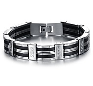 Fashion Men's Simple and Elegant Stainless Steel Bracelet (1 Pc)