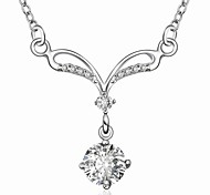 Fashion Silver Plated Inlaid zircon Fantastic Necklace (1 Pc)