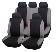 9 PCS Set Car Seat Covers universale Fit Materiale Poliestere Design semplice completa Mandato