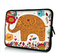 Elonno Flowers and Elephant Neoprene Laptop Sleeve Case Bag Pouch Cover for 10'' Samsung Dell HP iPad1/2/3/4/5