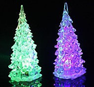 Luz del árbol de navidad colorido coway Crystal Night LED Light Small Lamp Tree