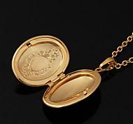 u7® 18K reales Gold überzog vintagephoto Medaillon