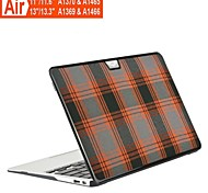 "Lattice Pattern Grid Case Flip Cover Case for Macbook Air 11.6"" 13.3""(Assorted Colors)"