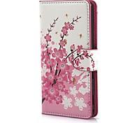 Mini elegantes Blumen-Muster PU-Leder Etui mit Magnetverschluss und Karten-Slot für Sony M2 (S50h)