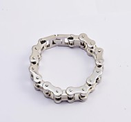 Fashion Men's Silver 316L Stainless Steel Thick Motorcycle Chain Bracelets