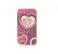 Korean Version Cloth Flowers Series Style Purple Wave Bottom Lace Loving PU Leather Full Body Cases for iPhone 4/4S
