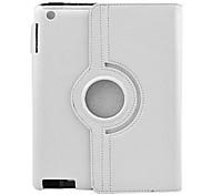 360 ° de rotación de la PU estuche protector duro con el soporte para el iPad 2/3/4