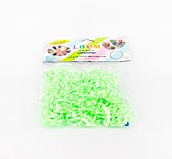 Green Loom Bands Random Color Rubber Band (200pcs Bands,12pcs S Hook,1pcs Crochet Hook)