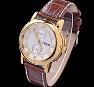 Pu ceinture montre-bracelet mécanique des femmes de mode