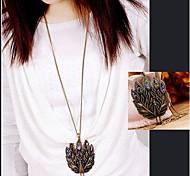 Lureme®Vintage Peacock Long Necklace