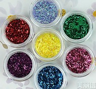 12-color Glitter Strip Laser Powder Nail Art Decorations(Random Color)