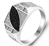 Genuine 925 Fine Jewelry Charms fidanzamento freddo Designer Micro Inlay Sterling Silver Men anello