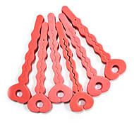 6pcs éponge molle en forme de clé Soins des cheveux Roller Set