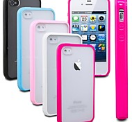 VORMOR® Frosted Back TPU Bumper Case for iPhone 4/4S (Assorted Colors)