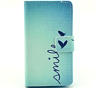 Smile Butterfly Pattern PU Leather Full Body Case with Card Slot Stand for Nokia Lumia N520