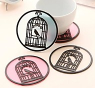 Cute Birdcage Silicone Slip Caosters(Assorted Color)