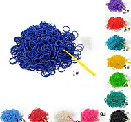 BaoGuang®(600 pcs/pack)Pure Color Rainbow Color Loom Rubber Band (12pcs S Hook,1pcs Crochet Hook)