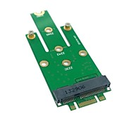 M.2 NGFF PCI-E 2 LANE Golden Finger Pin to 50mm Mini-PCIE Msata(18+8) SSD Hard Disk PCBA 0.05M 0.15FT