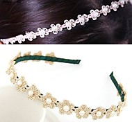 Ladies Fashion Wild Pearl Fabric Flower Hair Band