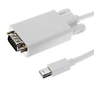 Mini DisplayPort macho a VGA macho Cable de Video Blanco para MacBook (180cm)
