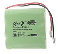 3.6V 1200mA Rechargeable Cordless Phone Replacement Battery Pack