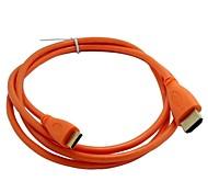 1.5m los 5ft varón de mini HDMI a HDMI v1.4 envío libre cable de alta definición v1.4 macho