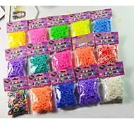 bandas telar pulsera trenzada de goma diy 300 pcs (color al azar)