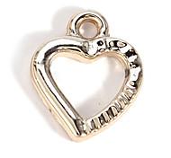 Alloy Heart DIY Charms Pendants for Bracelet & Necklace(10 PCS Per Package)