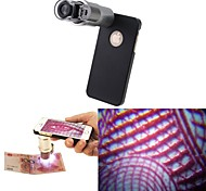 Apexel 200X Zoom Microscope Micro Lens Built in 2 Bright LED Lights with Back Case for iPhone 5C