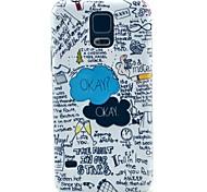 okay, Buchstabenmuster harte Fallabdeckung für Samsung Galaxy i9600 s5
