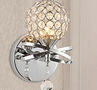 Crystal/Bulb Included Wall Sconces , Modern/Contemporary E12/E14 Metal