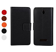 PU Leather Full Body Case with Stand and Card Slot for Sony Xperia E Dual C1605 (Assorted Colors)