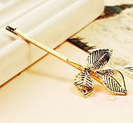 Vingtage horquilla de oro en 3 Diseño de las hojas