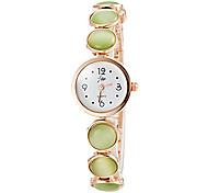 Women's Pearl Design Gold Alloy Band Quartz Bracelet Watch (Assorted Colors)