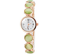 Women's Pearl Design Gold Alloy Band Quartz Bracelet Watch (Assorted Colors) Cool Watches Unique Watches