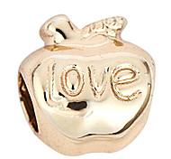 motif de l'amour alliage de pomme de bricolage charme des pendants d'oreille&collier (10 pcs par paquet)
