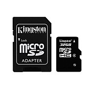 Kingston 32GB Clase 4 MicroSD/MicroSDHC/MicroSDXC/TFMax Read Speed8 (MB/S)Max Write Speed4 (MB/S)