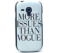 больше вопросов, чем дизайн моде крышкой Футляр для Samsung Galaxy S3 мини i8190