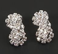 8 forma de clip diamanted manera del pendiente (1 par)