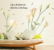 Doudouwo ® Florals Elegante Vento WaveFlower Petalo Giglio Wall Sticker