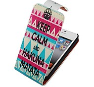 Crown Pattern Up-down Turn Over PU Leather Full Body Case for iPhone 4/4S