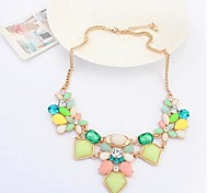 Women's Fashion Jelly Color Occident Fresh Geometric Choker Necklaces