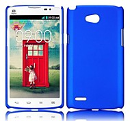 Smooth Solid Color Rubber Coated PC Hard Back Cover Case for LG L80(Assorted Colors)