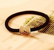 Bow Metal Elastic Hair Ties