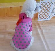 Camiseta - Rosa - de Algodão - Fantasias - para Cães