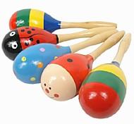 Kinder-Holz-Cartoon Musik Sand Hammer Glocke von Lernspielzeug